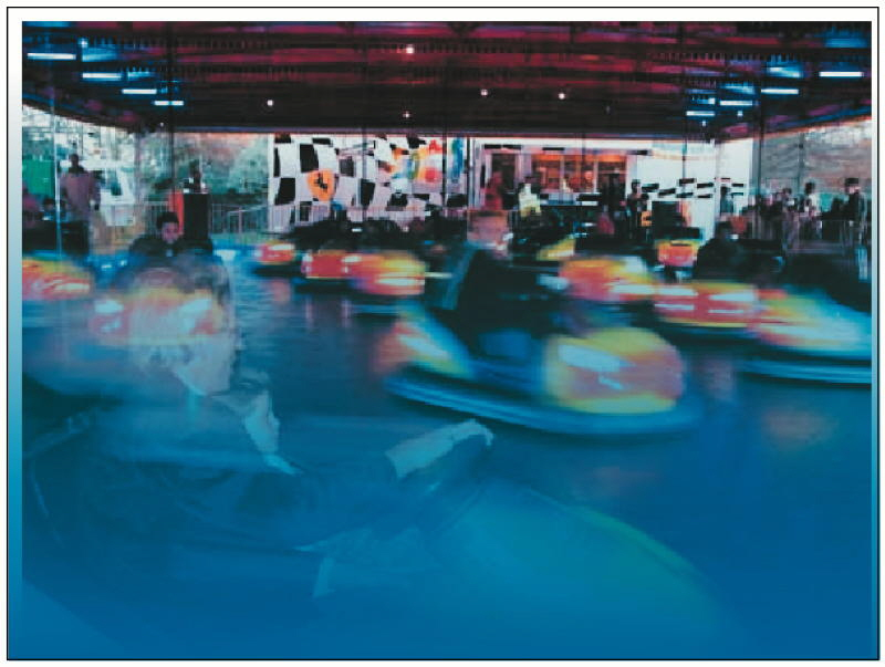 Background Scene Of A Dodgem Ride